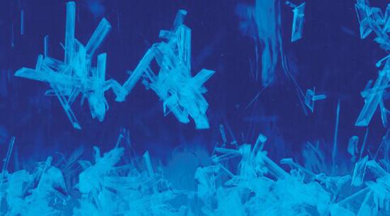 蓝色碎屑素材