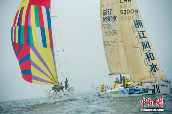 2016环海南岛国际大帆船赛三亚开赛